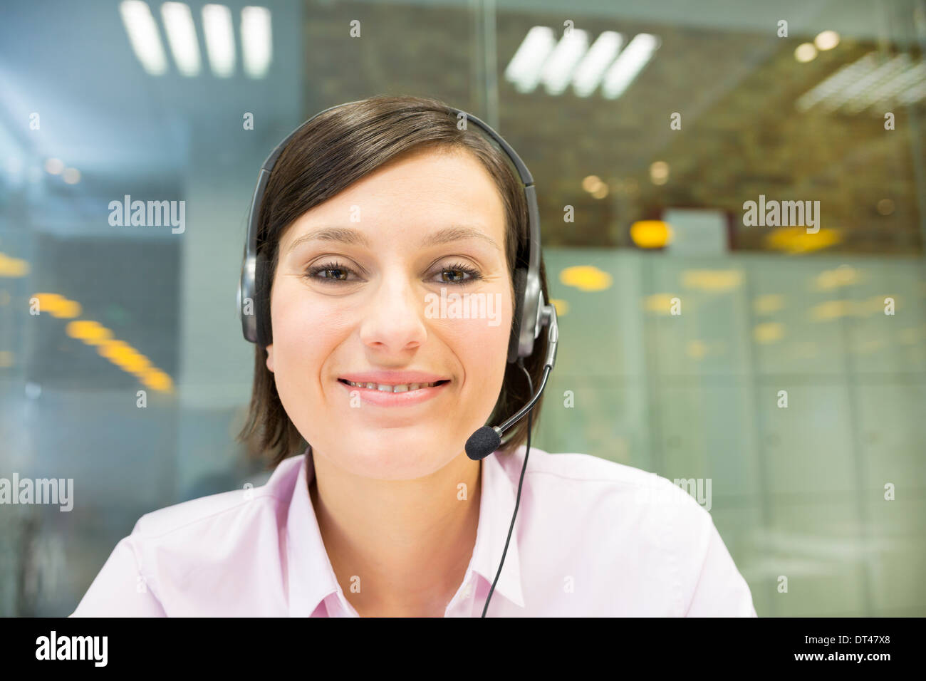Female business laptop call video conference - Stock Image