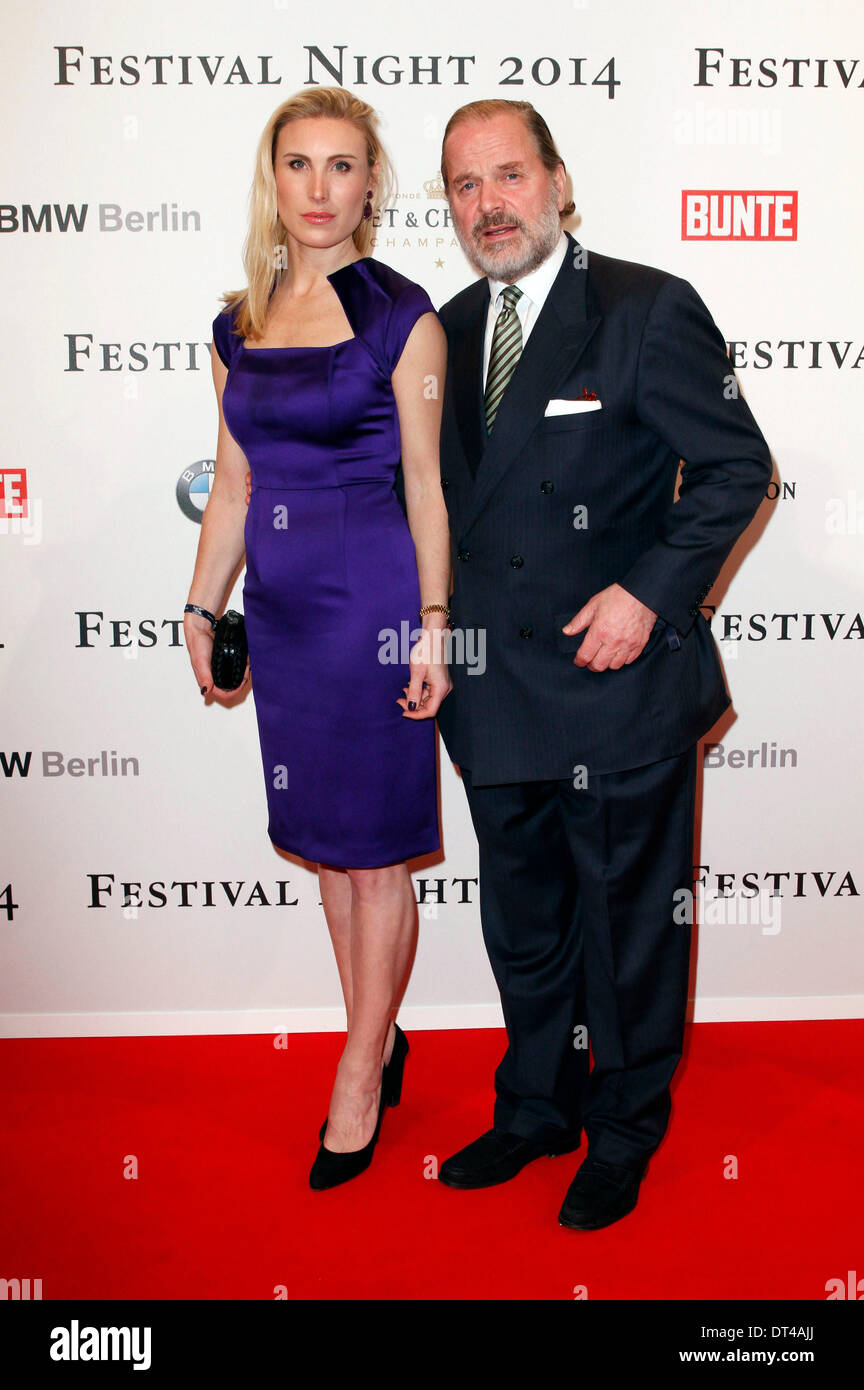Berlin, Germany. 7th Feb, 2014. Estelle Rytterborg and Enno von Ruffin attending the Bunte & BMW Festival Night - Stock Image