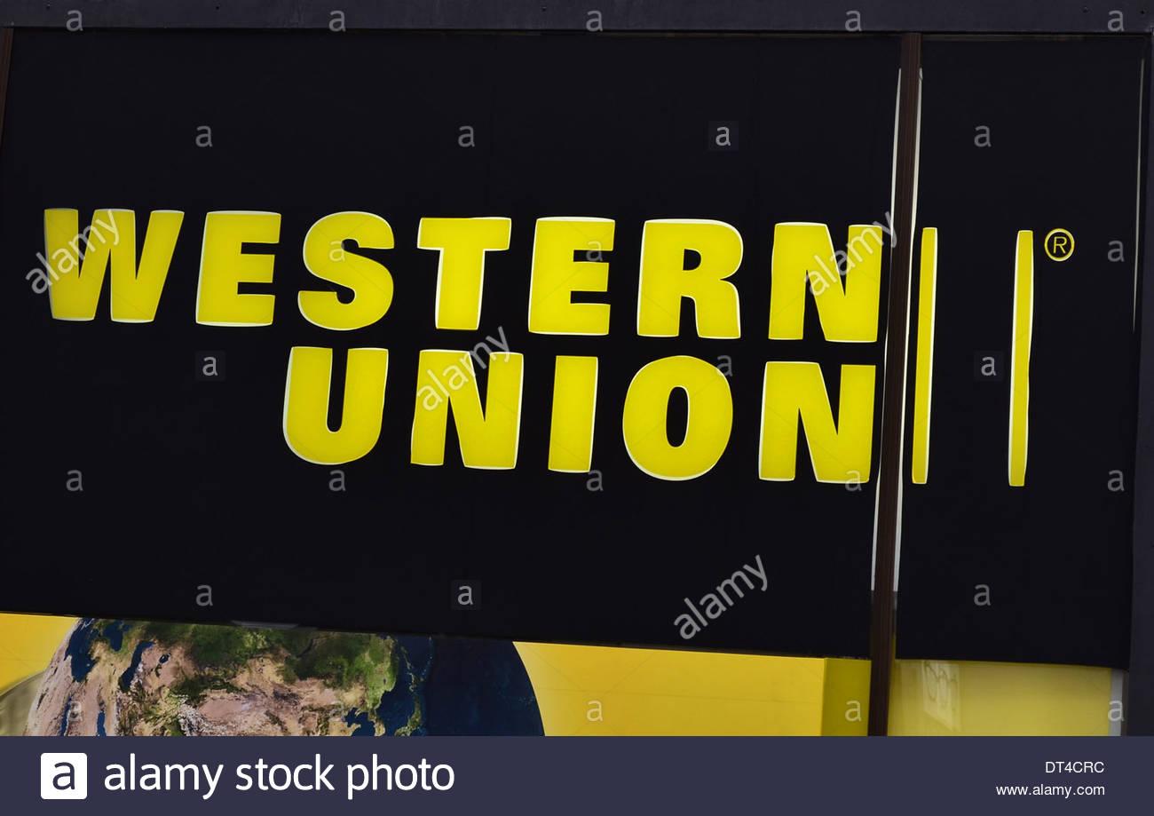 International Money Transfer Stock Photos Wiring To Haiti Western Union Company Logo Sign Image