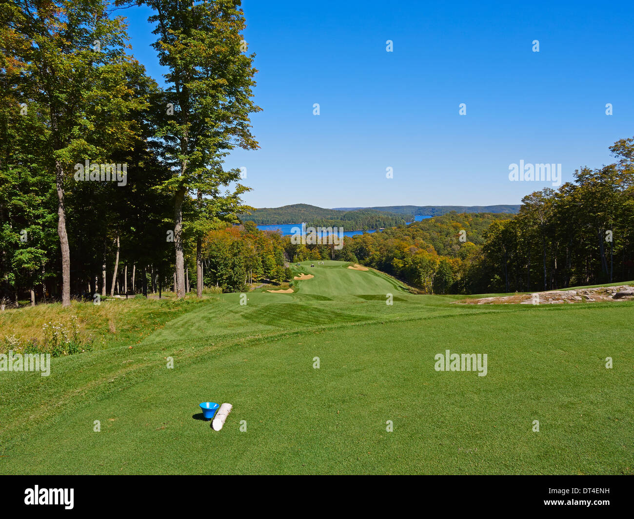 Bigwin Island Golf Course, Lake of Bays, Ontario. Challenging par 72 golf course in an exclusive island resort. - Stock Image