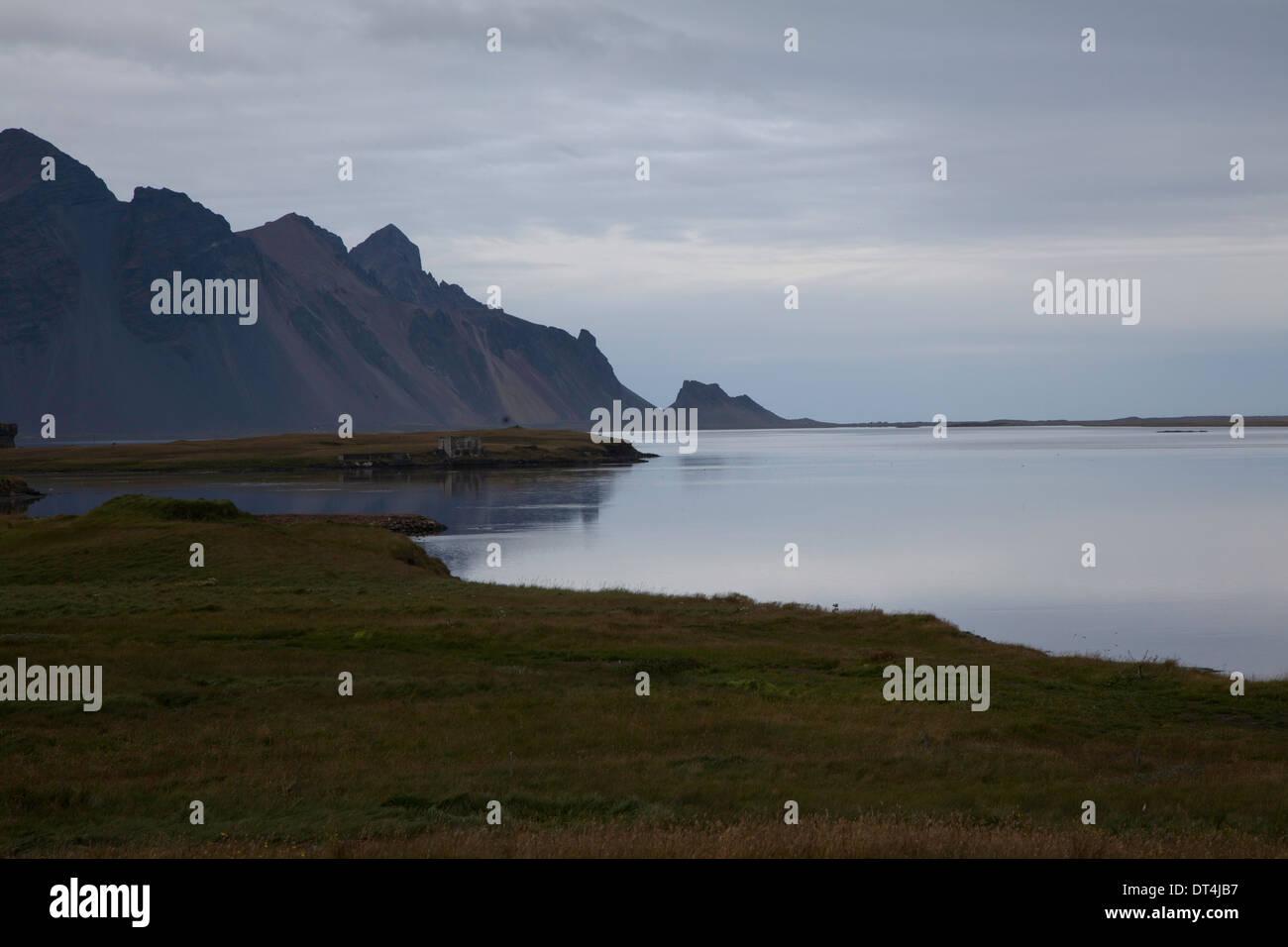 Low light at Djúpivogur, Iceland in summer - Stock Image