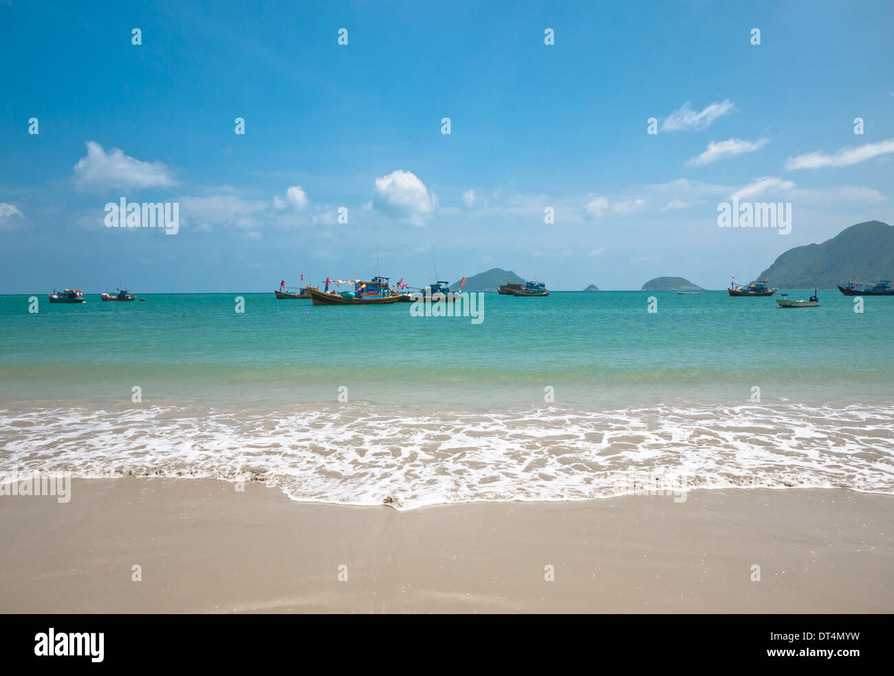 A view of the South China Sea just off An Hai Beach on Con Son Island, one of the Con Dao Islands, Vietnam. - Stock Image