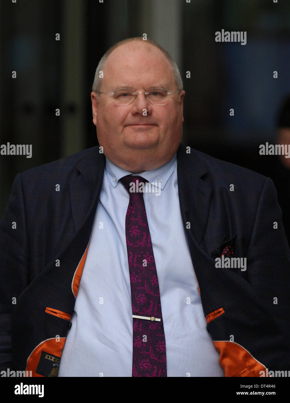 London, UK, 9th February 2014. Eric Pickles MP, Secretary of State for Communities and Local Government seen at Stock Photo