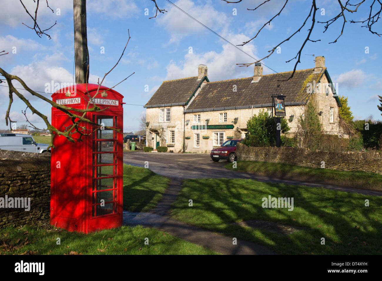 The Bell Inn a pub in Broughton Gifford Near Melksham Wiltshire England UK - Stock Image