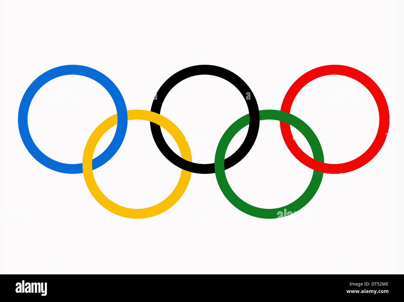 Olympic Games Rings Symbol Isolated On A White Background Stock