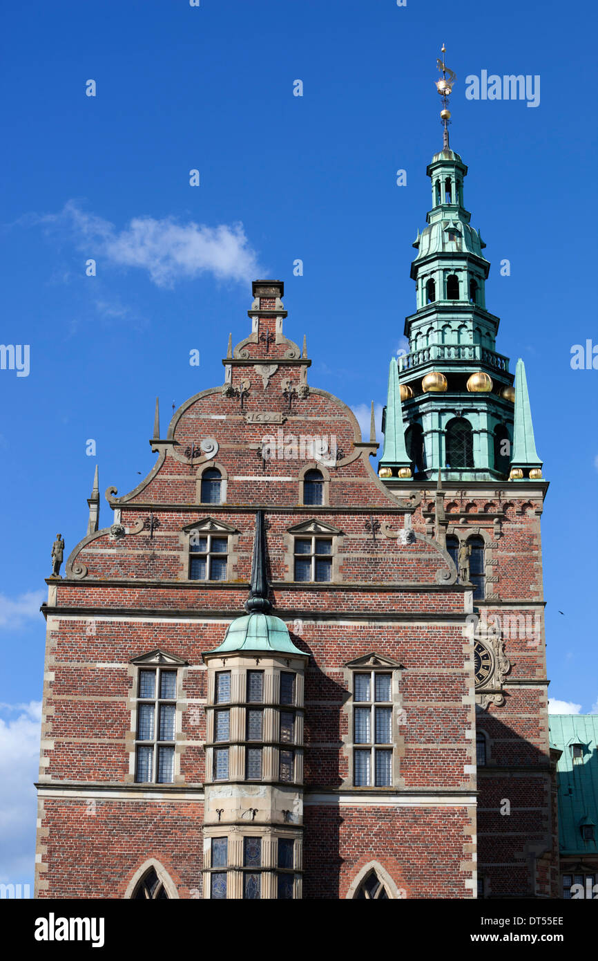 Tower of Frederiksborg Palace, built as a royal residence for King Christian 4th - Stock Image
