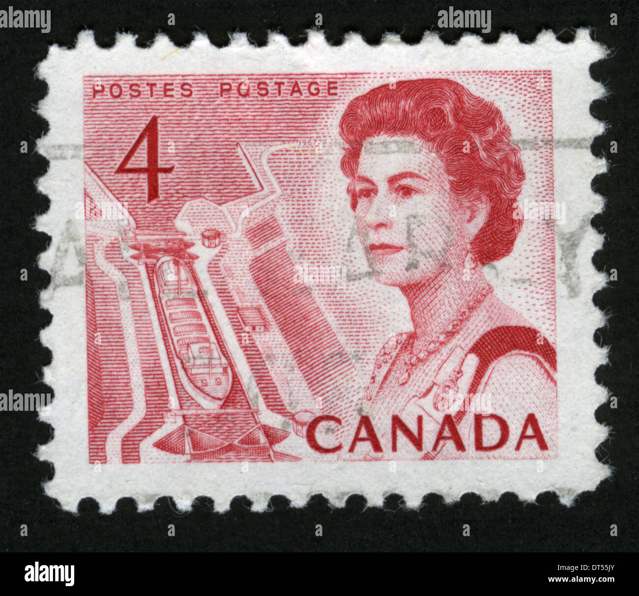 Canada Postage Stamp Post Mark Stamp Post Stamp Queen Elizabeth
