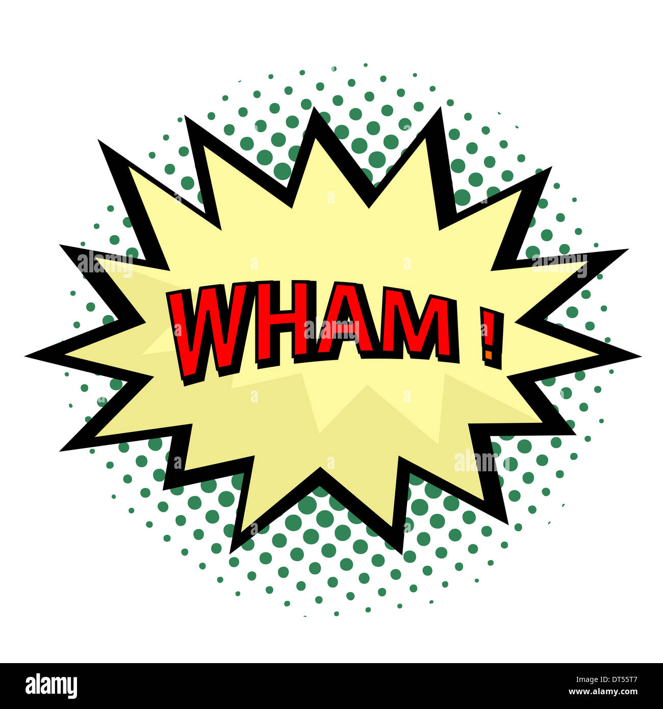 Wham! comic cloud in pop art style - Stock Image