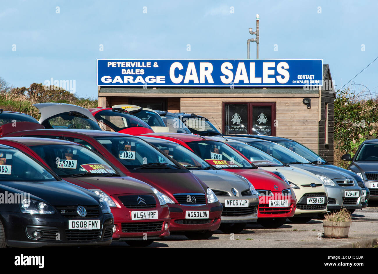 Second Hand Car Sales Lot   Stock Image