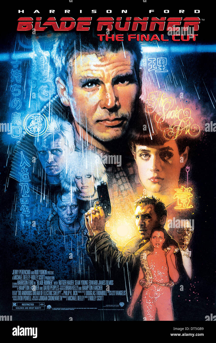 HARRISON FORD & SEAN YOUNG POSTER BLADE RUNNER (1982) - Stock Image