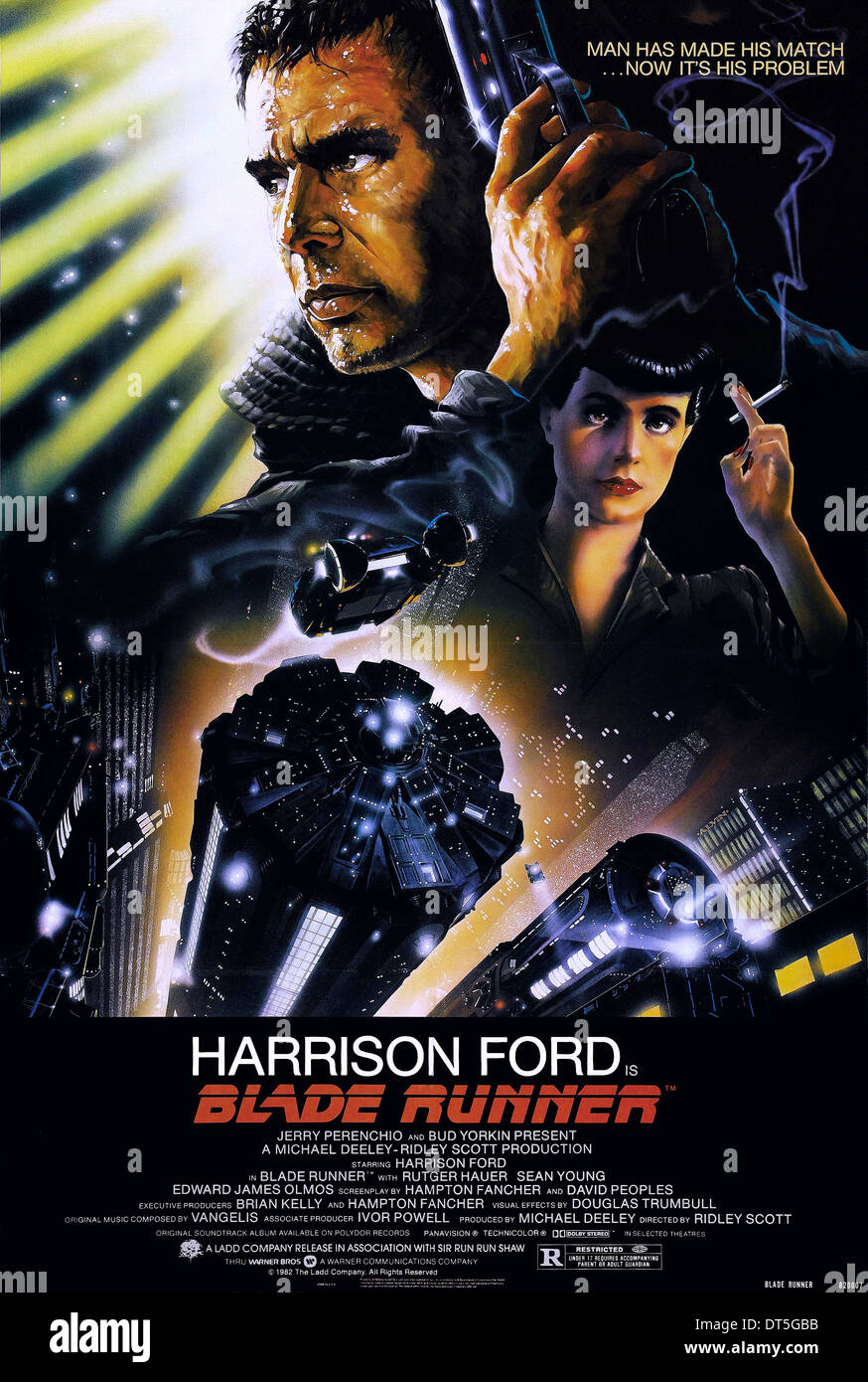 HARRISON FORD, SEAN YOUNG POSTER, BLADE RUNNER, 1982 - Stock Image