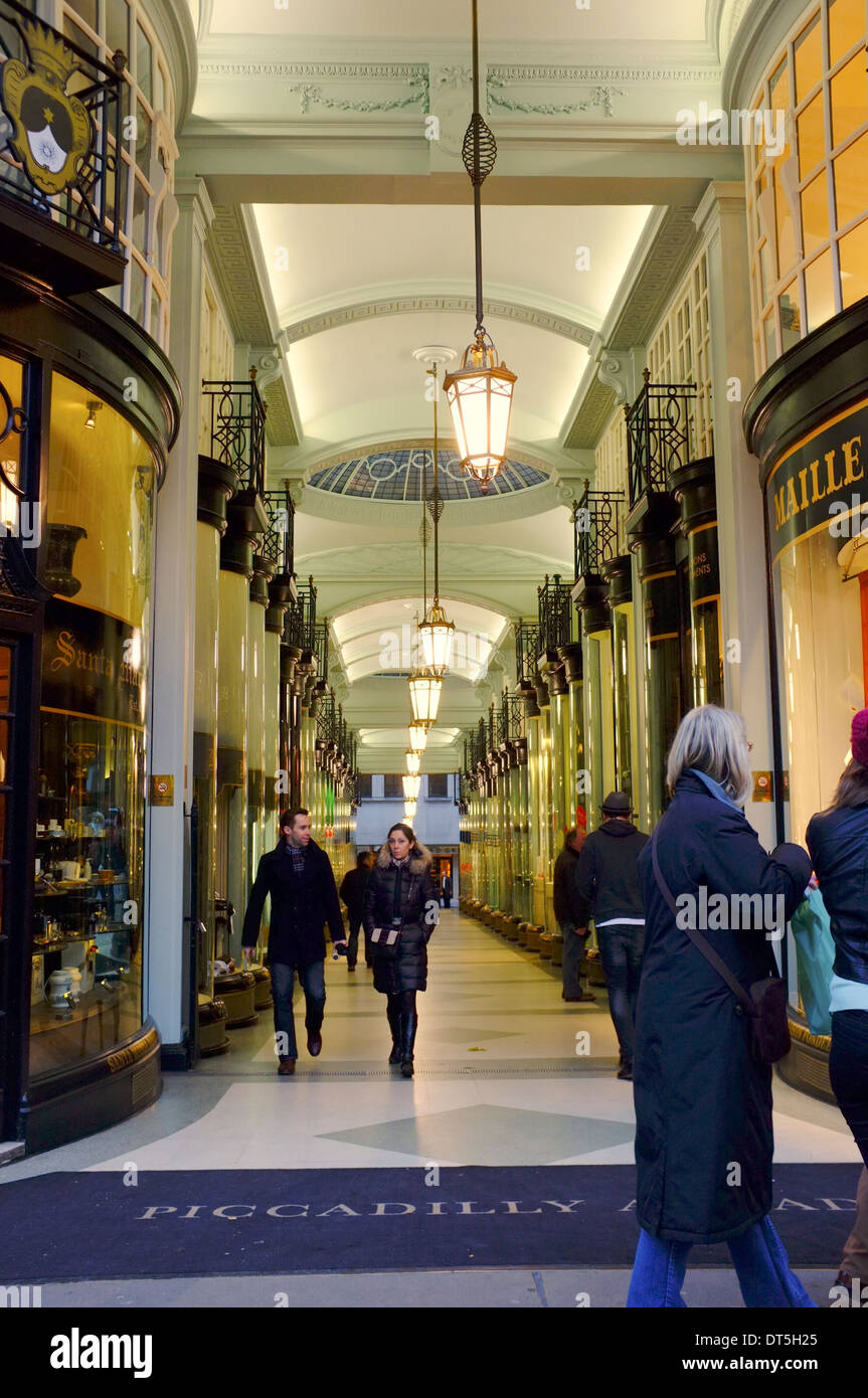 Piccadilly Arcade, luxury boutiques, London - Stock Image