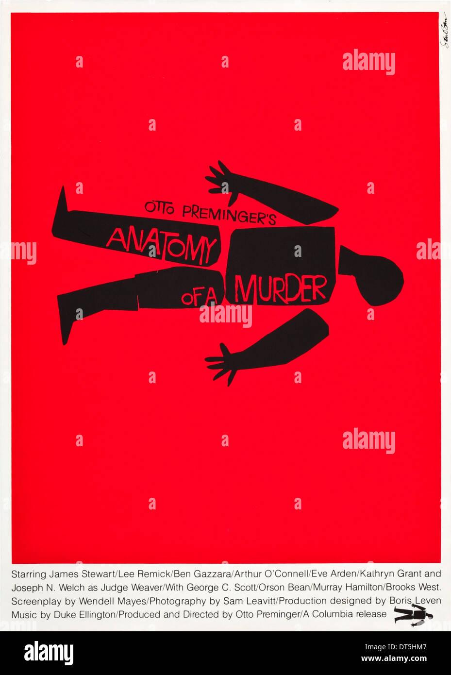 MOVIE POSTER ANATOMY OF A MURDER (1959 Stock Photo: 66506503 - Alamy