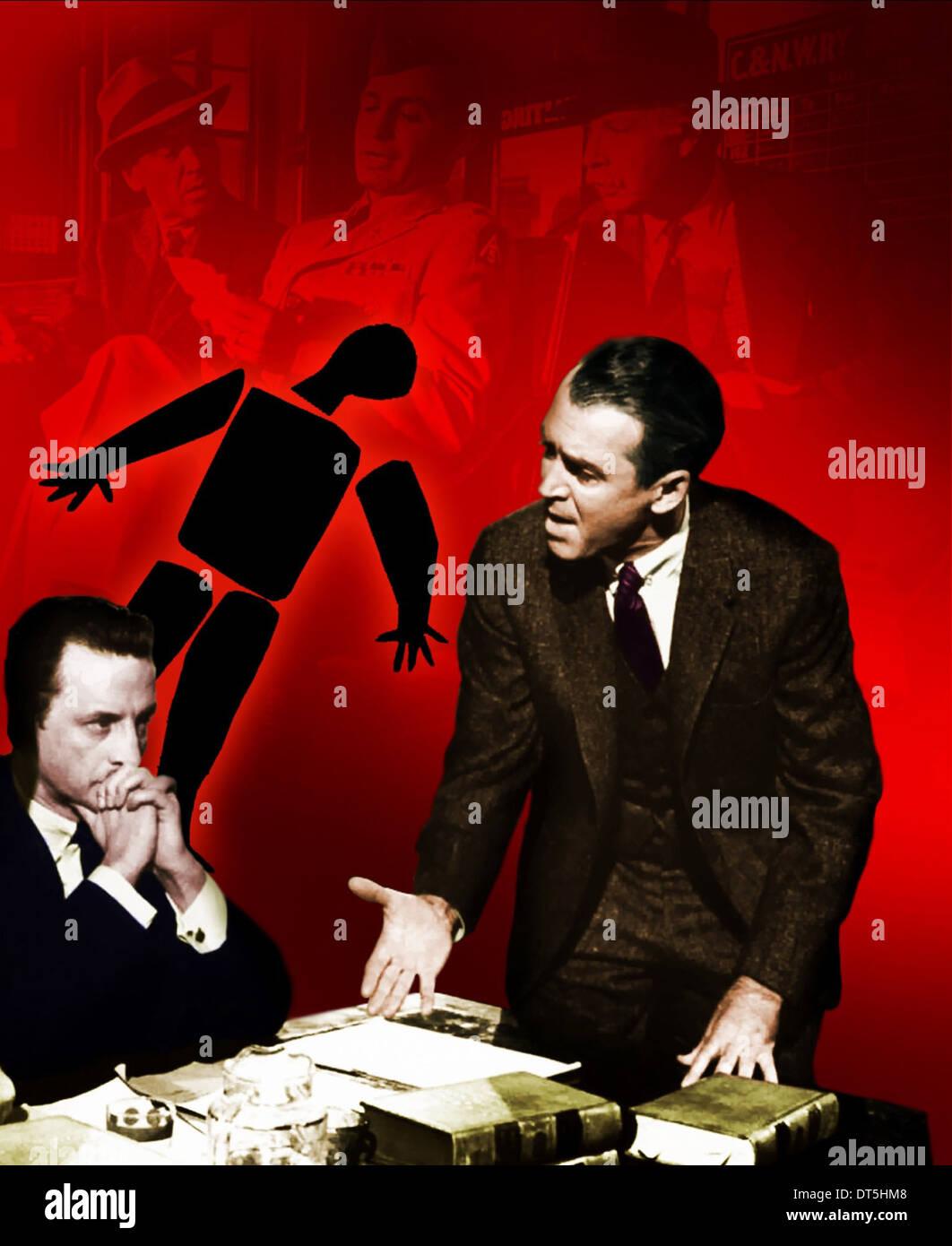 GEORGE C. SCOTT & JAMES STEWART ANATOMY OF A MURDER (1959 Stock ...