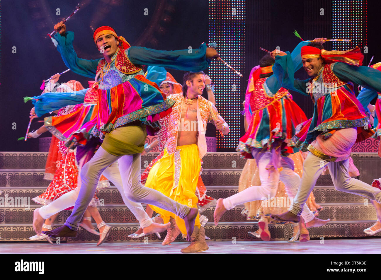 The Merchants of Bollywood Show, Peacock Theatre, London - Stock Image