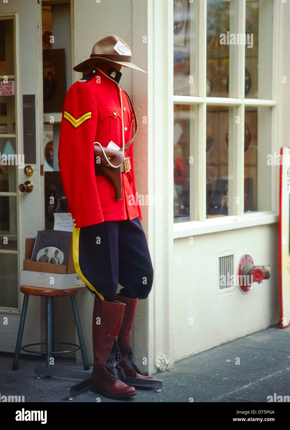 Ceremonial dress of the Mounted Canadian Police or Mounties Stock Photo