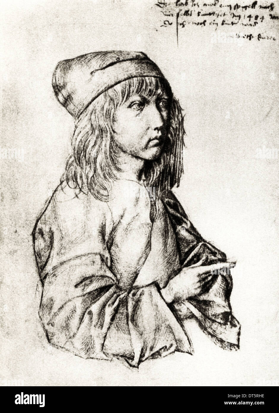 Self portrait by Albrecht Durer circa 1484 German artist 1471 - 1528
