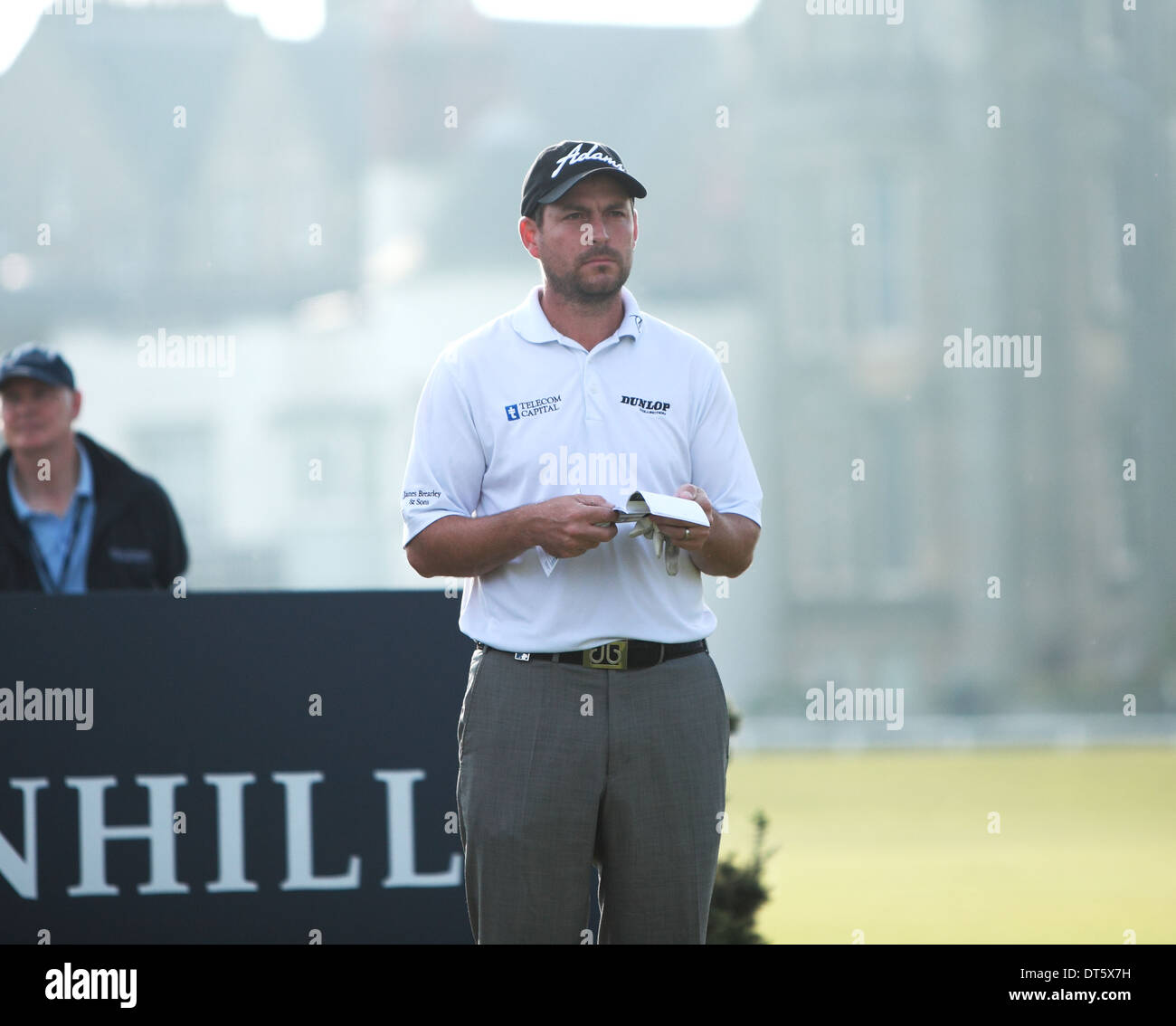 David Howell,winner of The Dunhill Cup 2013,St andrews Old course - Stock Image