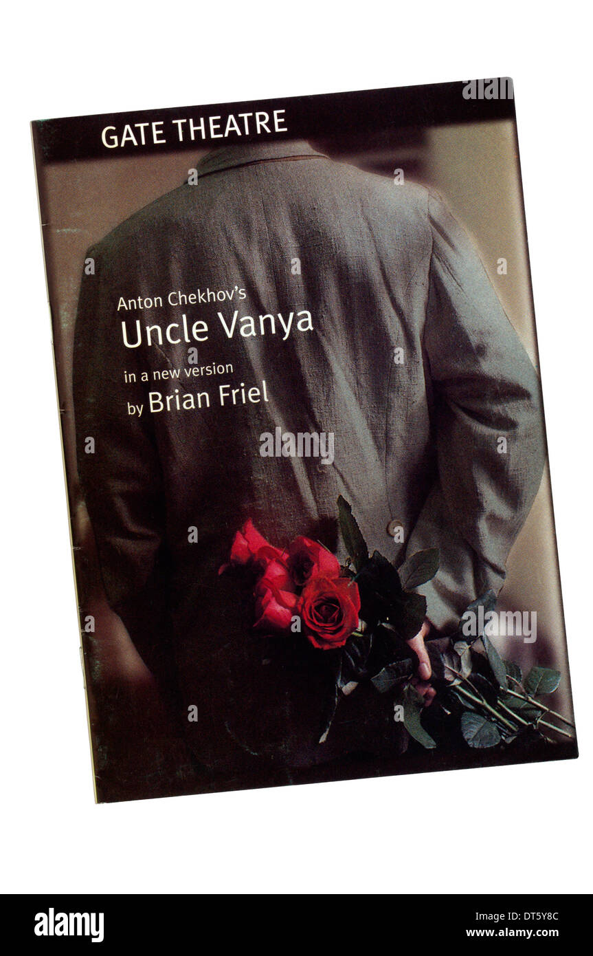 Programme for the 1998 production of Uncle Vanya by Anton Chekhov, in a new version by Brian Friel, at the Gate Theatre, Dublin. - Stock Image