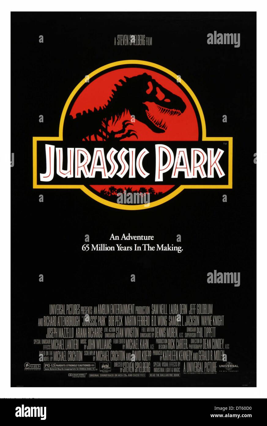 MOVIE POSTER JURASSIC PARK (1993) - Stock Image