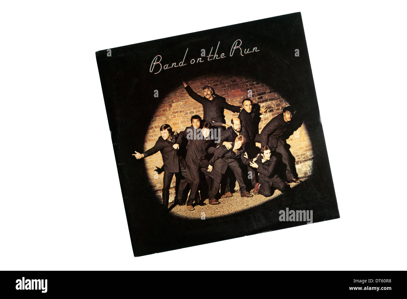 Band on the Run was Wings' third and most successful album, released in 1973. - Stock Image