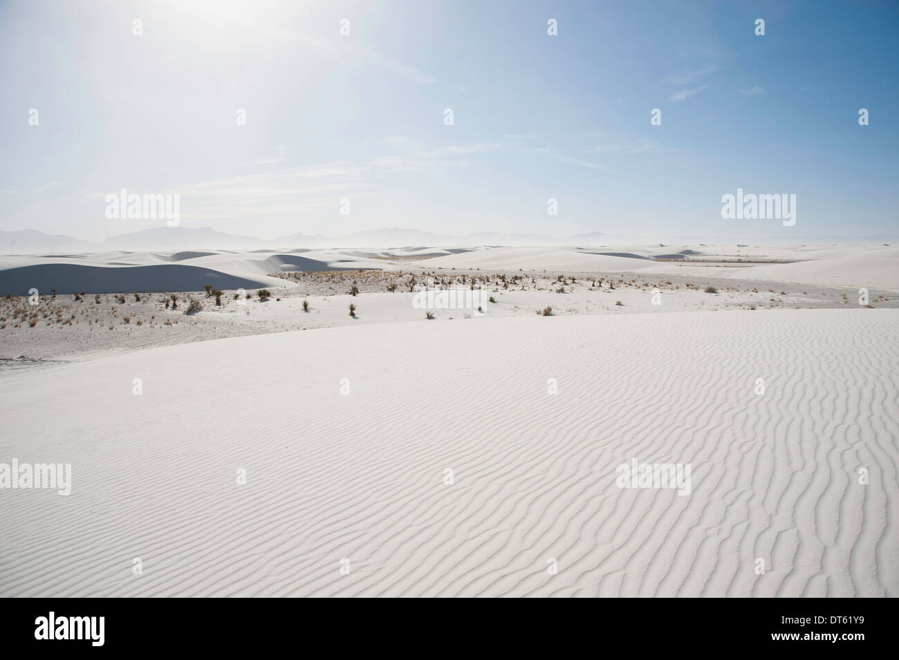 Sand dunes, White sands, New Mexico, USA - Stock Image