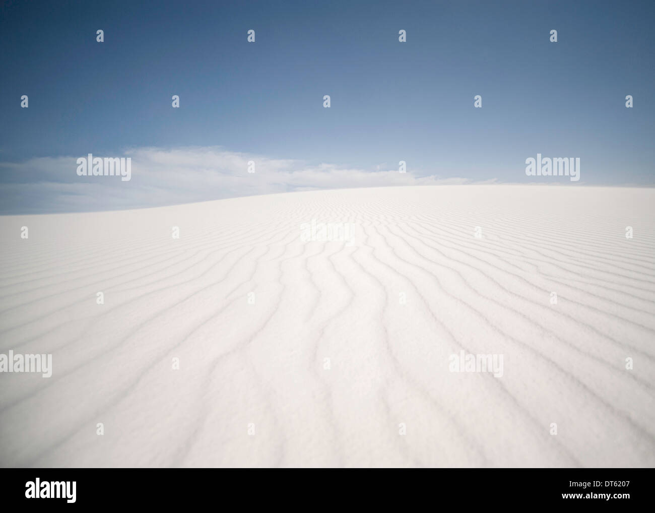 Rippling sand dune, White sands, New Mexico, USA - Stock Image