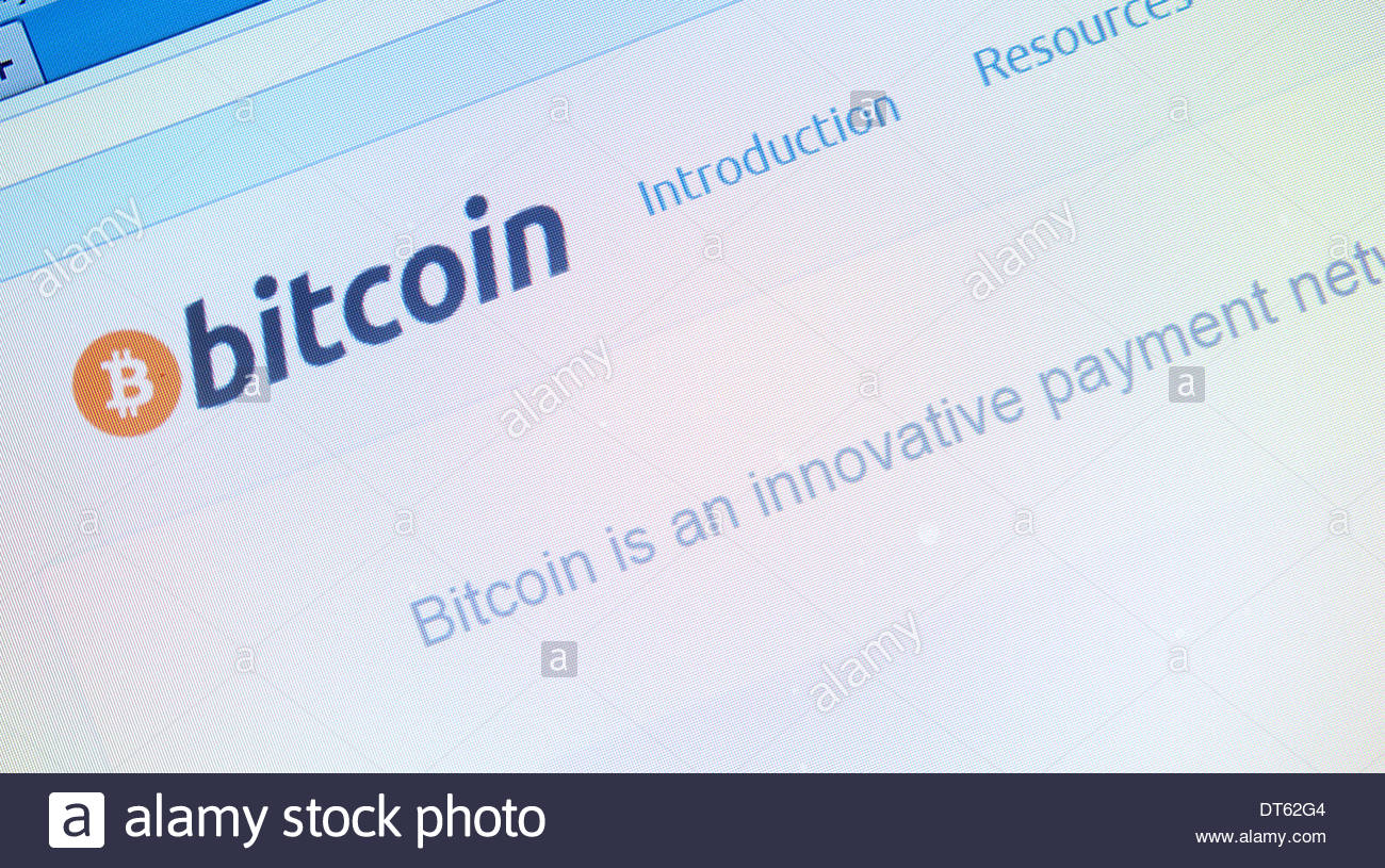 Bitcoin Website - Stock Image