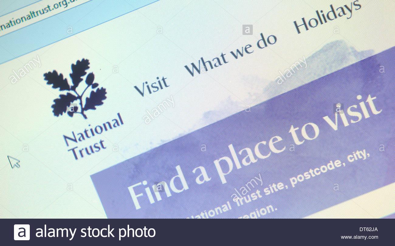 National Trust Website - Stock Image