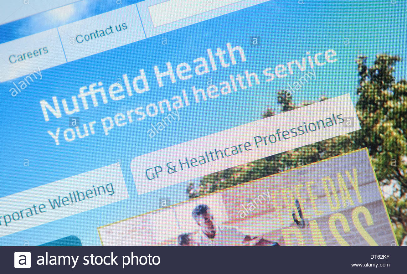 Nuffield Health Website - Stock Image