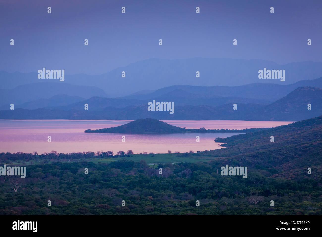 Lake Abaya and Views Towards Nechisar National Park, Arba Minch, Ethiopia Stock Photo