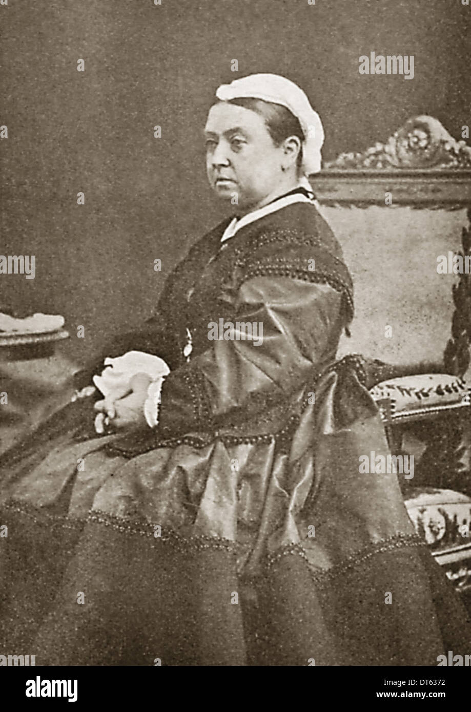 Queen Victoria a portrait in 1863. From the archives of Press Portrait Service (formerly Press Portrait Service). - Stock Image