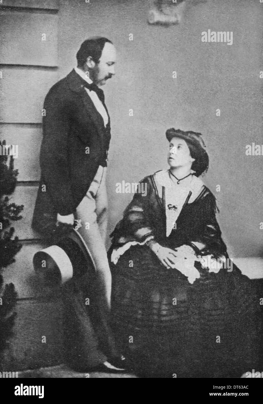 Prince Albert husband consort and Queen Victoria in 1860. From the archives of Press Portrait Service (formerly Press Portrait Service). - Stock Image