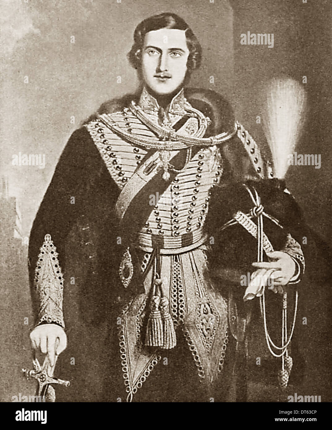 Prince Albert husband consort to Queen Victoria in 1840. From the archives of Press Portrait Service (formerly Press Portrait Service). - Stock Image