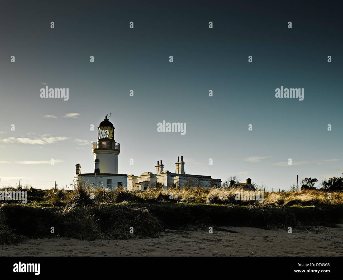 Chanonry Point lighthouse, Scotland, UK - Stock Image