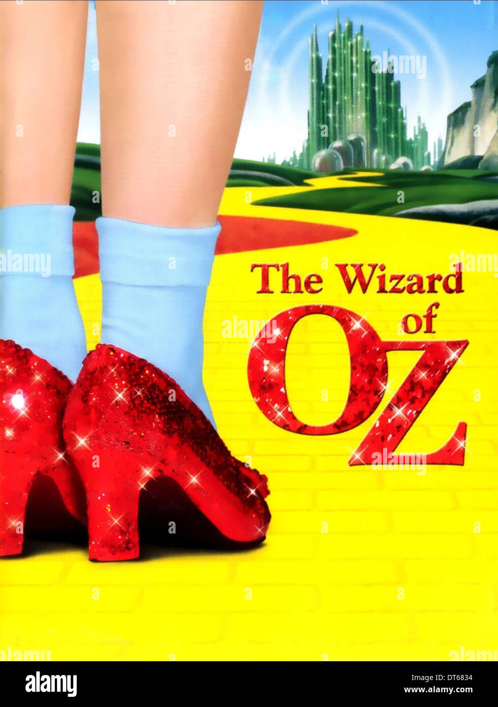 dorothys magic shoes poster the wizard of oz 1939 stock