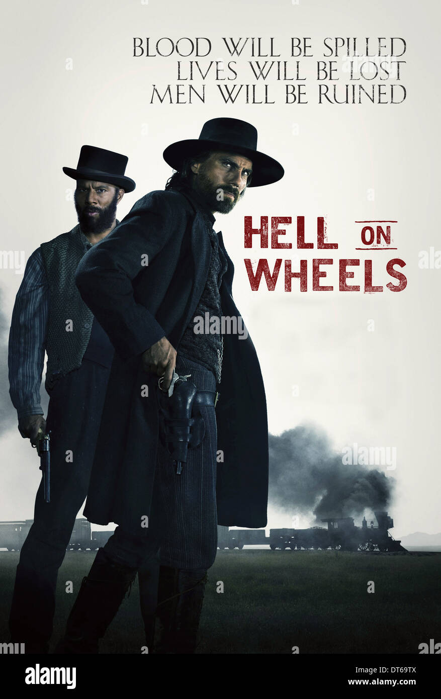 COMMON & ANSON MOUNT POSTER HELL ON WHEELS (2011) - Stock Image