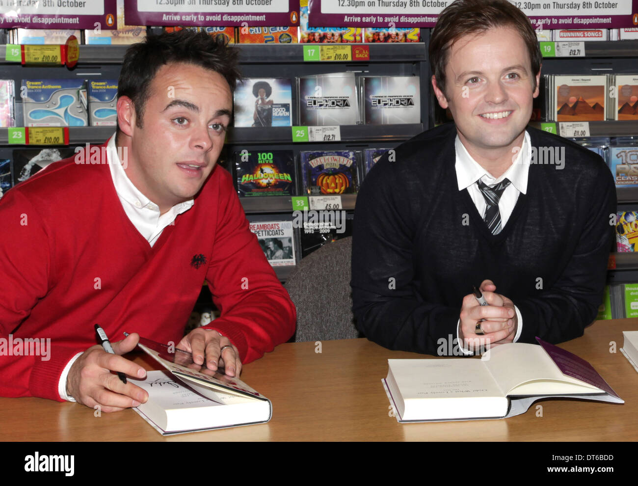 Ant and Dec Celebrity TV personalities and show hosts Asda Derby - Stock Image