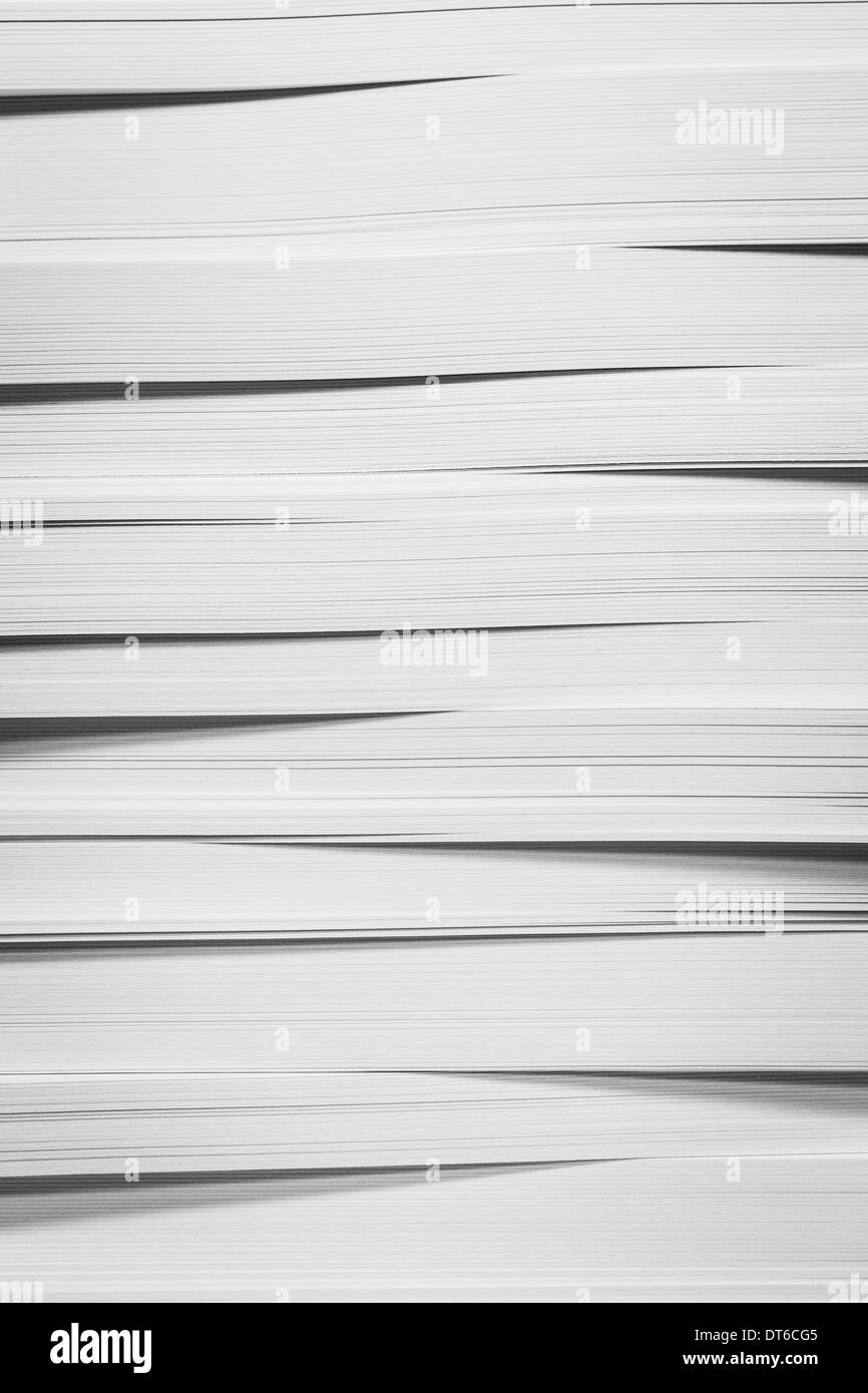 A stack of recycled white paper, paper supplies. Stock Photo