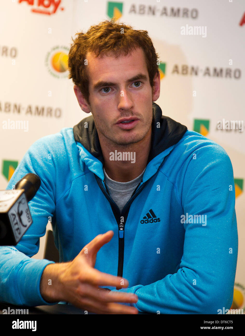 Andy Murray(GBR) in a press conference at the ABN AMRO World