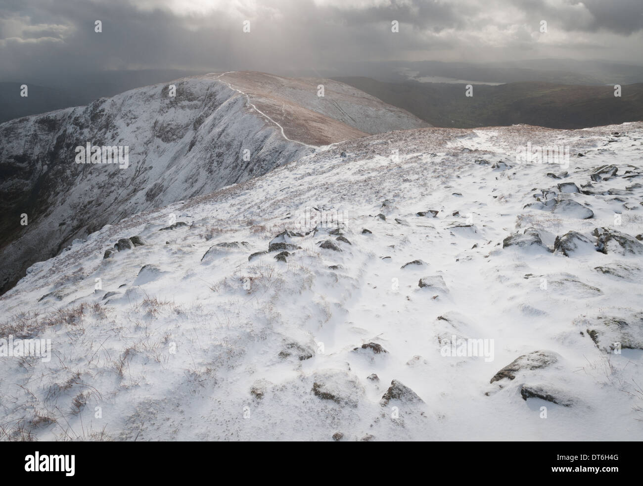 View to Yoke from Ill Bell, Kentmere Horseshoe, English Lake District national park - Stock Image