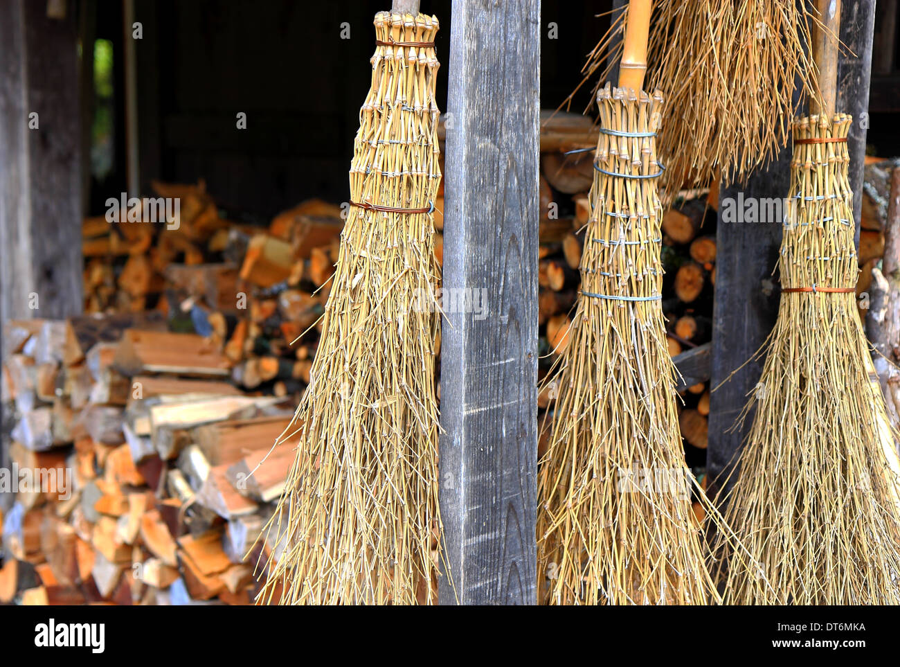 Straw Broom And House Stock Photos Amp Straw Broom And House