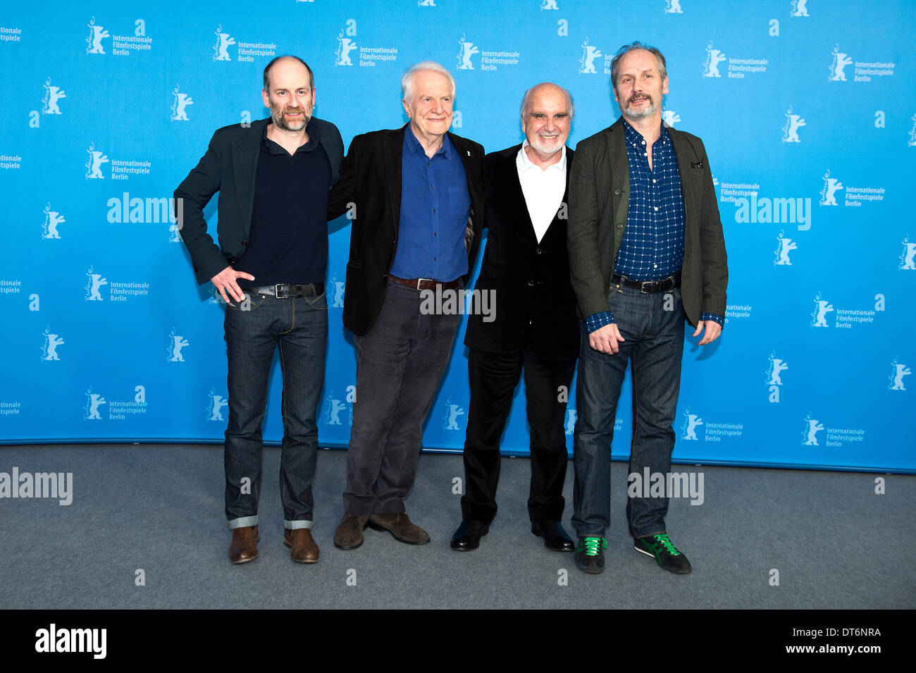 Berlin, Germany. February 10th 2014.  AIMER, BOIRE ET CHANTER in the 64th Berlinale Film Festival with Sabine Azéma,Sandrine Kiberlain,Caroline Silhol,Hippolyte Girardot and André Dussollier product by Jean-Louis Livi.   Goncalo Silva/ Alamy Live News - Stock Image