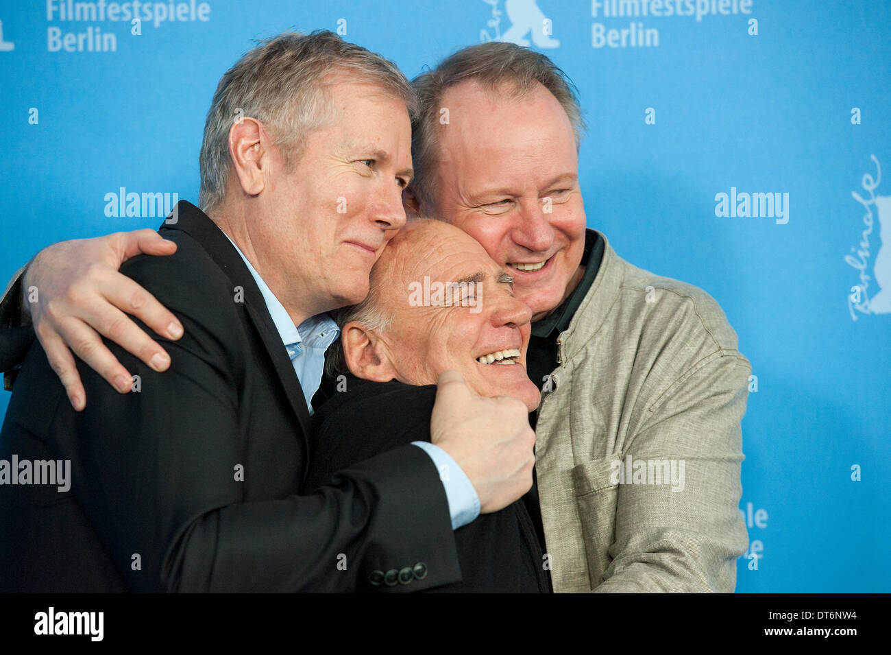 Berlin, Germany. February 10th 2014.    Hans Petter Moland  presents 'IN ORDER OF DISAPPERANCE' in the 64th Berlinale Film Festival with Stellan Skarsgård,Pål Sverre Hagen,Bruno Ganz ,Jakob Oftebro,Anders Baasmo Christiansen  product by Finn Gjerdrum and Stein B. Kvae .   Goncalo Silva/ Alamy Live News - Stock Image