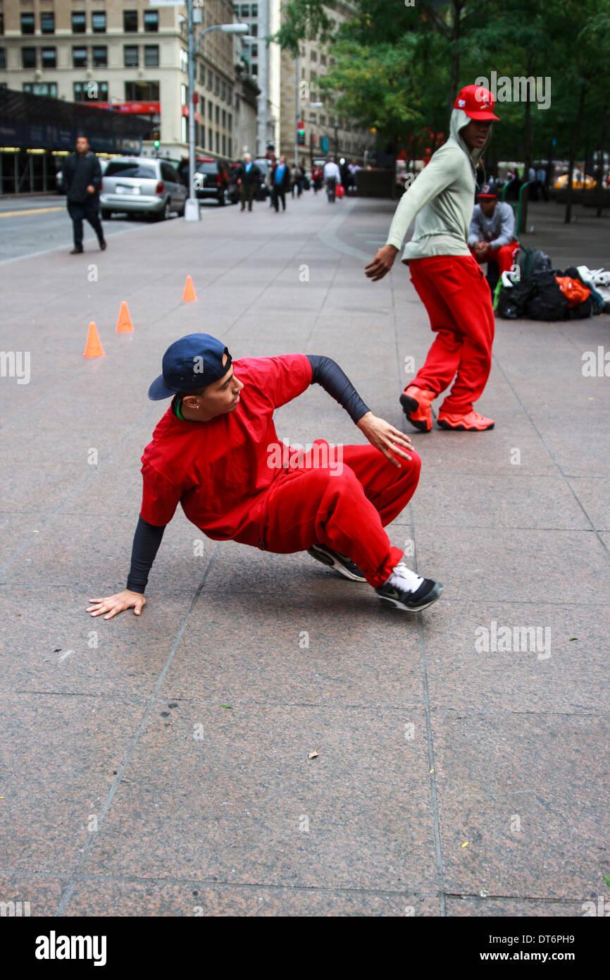 Street Dancers Stock Photo