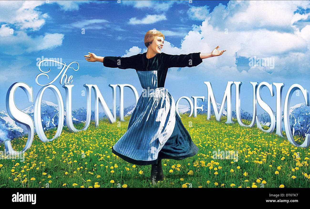 Julie Andrews Poster The Sound Of Music 1965 Stock Photo Alamy