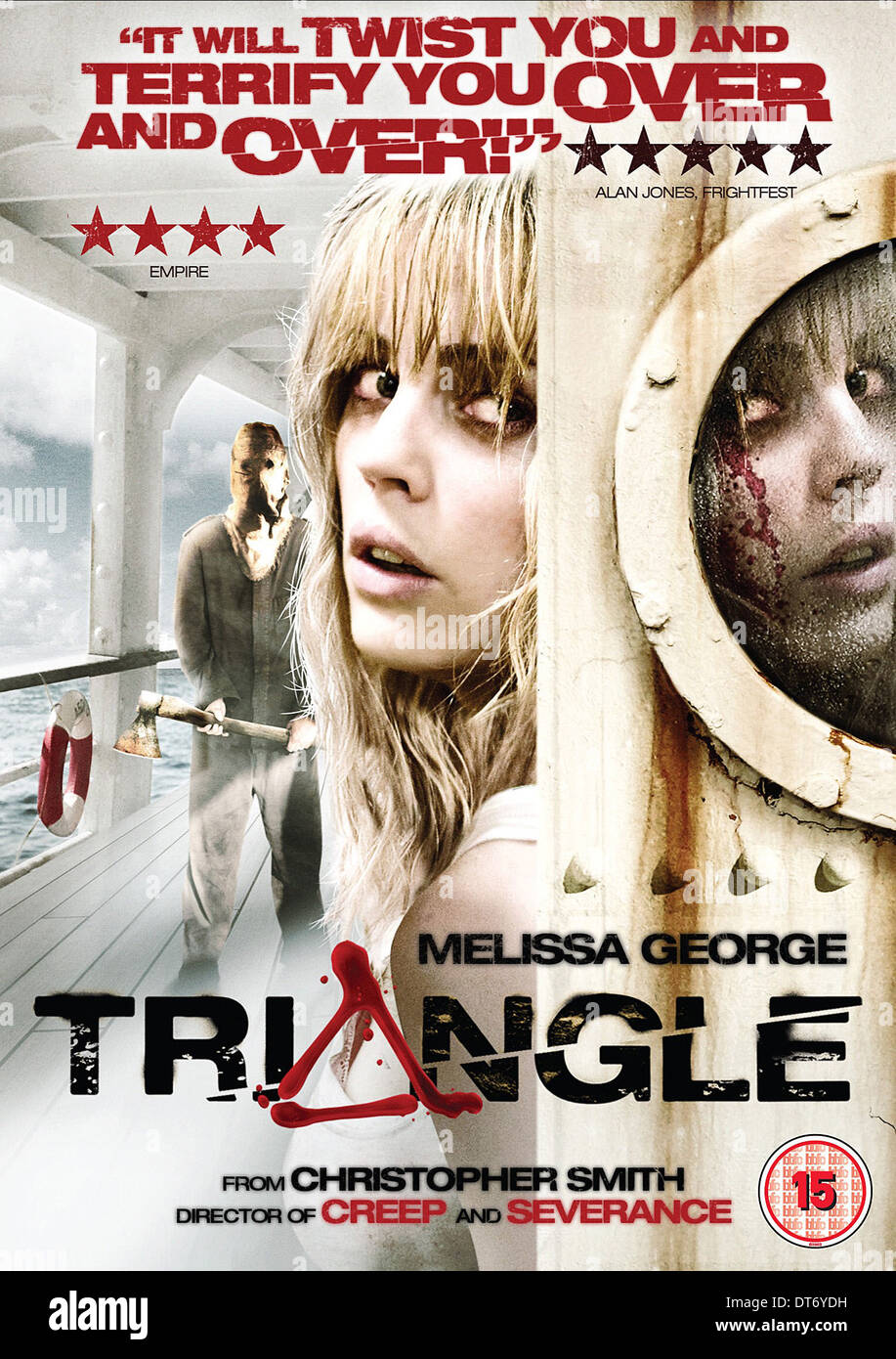 MOVIE POSTER TRIANGLE (2009) - Stock Image