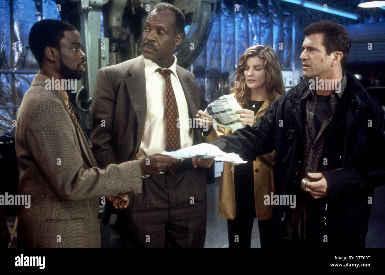 Chris Rock Danny Glover Rene Russo Mel Gibson Lethal Weapon 4 Stock Photo Alamy