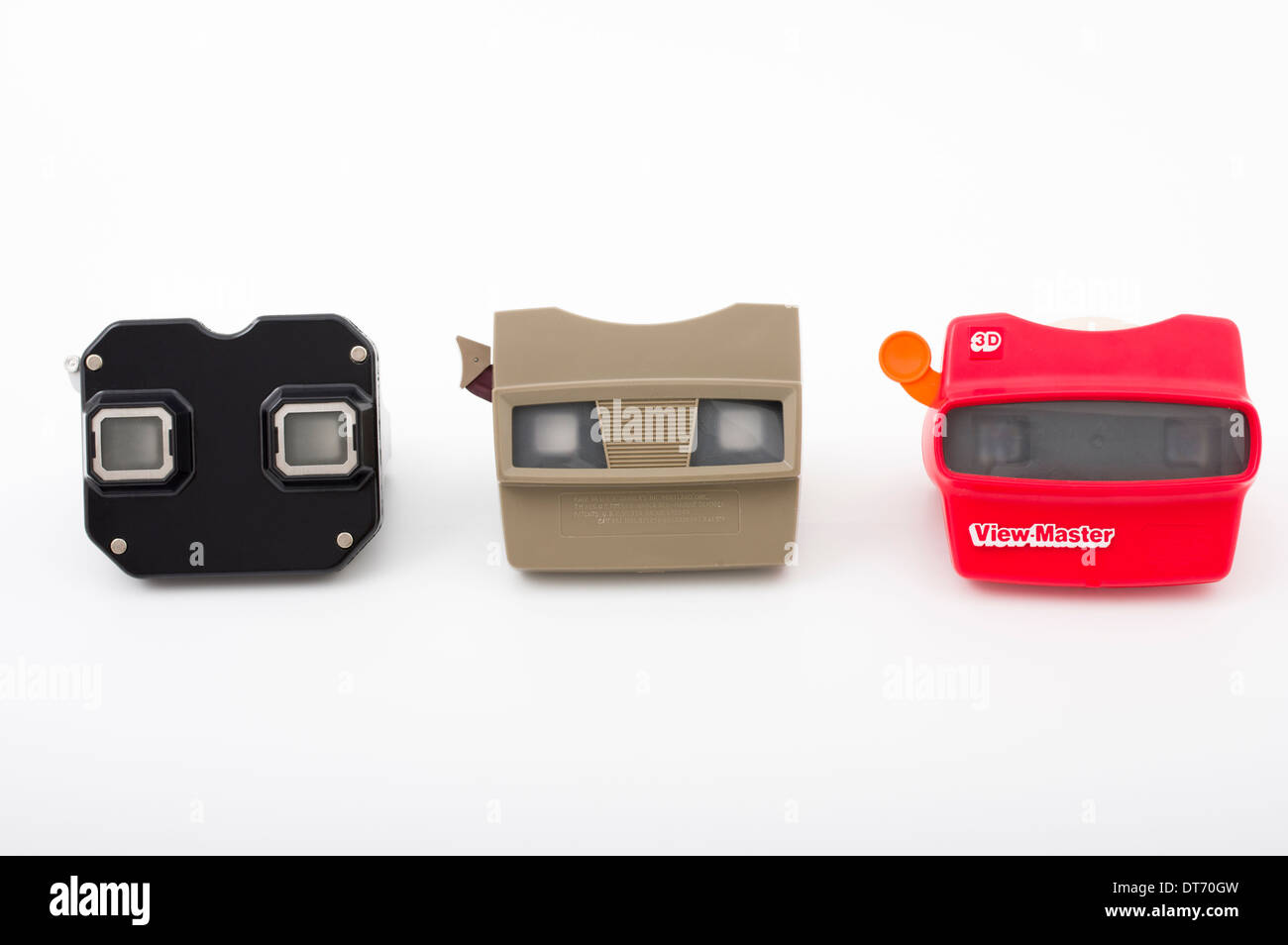 View-Master stereoscopic 3-D viewer toy early models by Sawyer later Fisher-Price - Stock Image