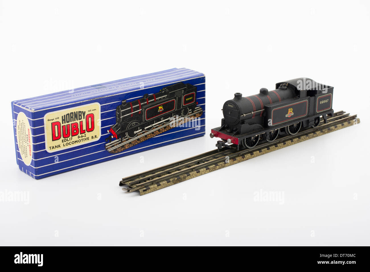 Hornby Dublo EDL17 Tank Locomotive Train Classic Brtish Children's Toy - Stock Image